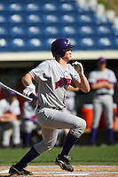 March 6 2009: Greg Wallace of the Evansville Purple Aces in action against the Pepperdine Waves at Eddy D. Field Stadium in Malibu,CA.  Photo by Larry Goren/Four Seam Images