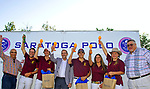 August 11, 2019:  The Saddlery [maroon] defeated arch rival Saratoga Polo Association 12-6 in a spirited match on a beautiful night in Saratoga Springs, New York at the Saratoga Polo Club. Heary/Eclipse Sportswire/CSM