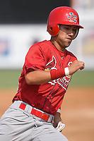 Nico Vasquez (26) of the Johnson City Cardinals hustles around the bases at Dan Daniels Park in Danville, VA, Sunday July 27, 2008.