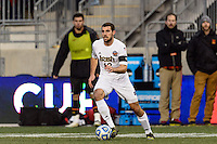 Notre Dame Fighting Irish defender Andrew O'Malley (12). The Notre Dame Fighting Irish defeated the Maryland Terrapins 2-1 during the championship match of the division 1 2013 NCAA  Men's Soccer College Cup at PPL Park in Chester, PA, on December 15, 2013.