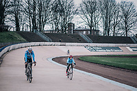 Wout Van Aert  (BEL/Veranda's Willems-Crelan) testing the legendary Roubaix Velodrome during recon of the 116th Paris - Roubaix 2018