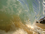 Just a foot of water and 5 feet of wave straight to the sand.