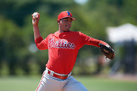 Philadelphia Phillies pitcher Daniel Vilchez (79) during an Minor League Extended Spring Training intrasquad game on April 24, 2019 at the Carpenter Complex in Clearwater, Florida.  (Mike Janes/Four Seam Images)