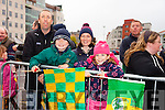 The Home Coming - Waiting at Tralee Railway Station for the arrival of the Senior and minor Kerry Teams on Monday were l-r Vince Cooper, Liam Cooper, Helen Cooper and Aoife Cooper.