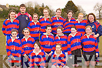 Castleisland ladies that played in the under 17 ladies rugby blitz in Castleisland on Saturday front row l-r: Clair Brosnan, Amber keane. Middle row: Catriona McCarthy, Nora O'Donoghue, Derval Sheehy, Charlene O'Connor, Moira Hannafin, Katie Muller. Back row: Ciara Griffin, Aidan Fleming, Muireann Fleming, Sarah O'Connor, Anne-Sophie Dellisse, Flo Divane, Maria Curtin and Breda O'Donoghue