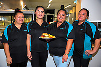 Naenae Bowling Club catering staff. Bowls Premier League at Naenae Bowling Club in Wellington, New Zealand on Thursay, 26 April 2018. Photo: Dave Lintott / lintottphoto.co.nz