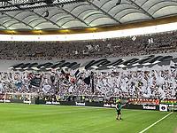 "Choreographie ""Mein Verein"" der Fans von Eintracht Frankfurt - 01.08.2019: Eintracht Frankfurt vs. FC Flora Tallinn, UEFA Europa League, Qualifikation 2. Runde, Commerzbank Arena<br /> DISCLAIMER: DFL regulations prohibit any use of photographs as image sequences and/or quasi-video."