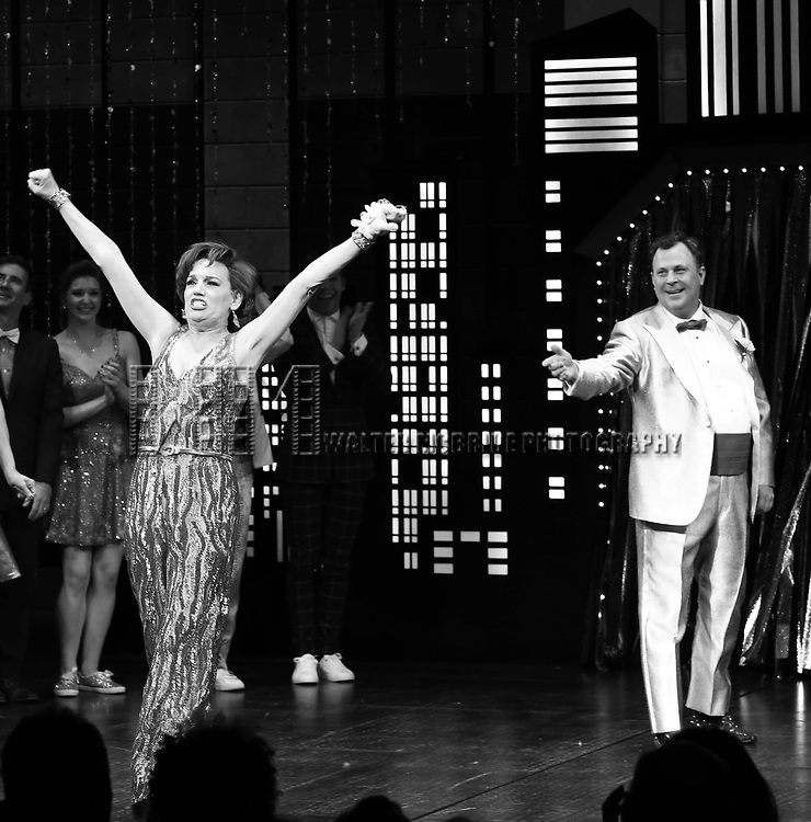 "Beth Leavel and Brooks Ashmanskas during the Broadway Opening Night Curtain Call of ""The Prom"" at The Longacre Theatre on November 15, 2018 in New York City."