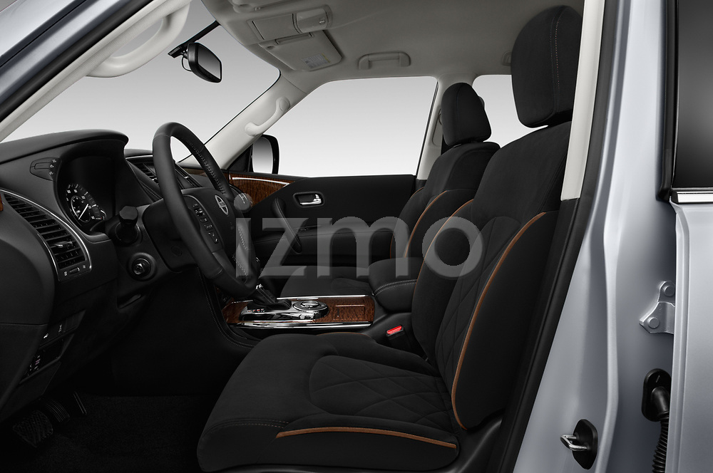 Front seat view of 2017 Nissan Armada SV 5 Door SUV front seat car photos