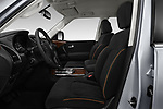 Front seat view of 2018 Nissan Armada SV 5 Door SUV front seat car photos