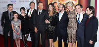 "BURBANK, CA - DECEMBER 09: Colin Farrell, Annie Rose Buckley, Melanie Paxson, Bradley Whitford, Tom Hanks, Rita Wilson, Paul Giamatti, Emma Thompson, B.J. Novak, Jason Schwartzman arriving at the U.S. Premiere Of Disney's ""Saving Mr. Banks"" held at Walt Disney Studios on December 9, 2013 in Burbank, California. (Photo by Xavier Collin/Celebrity Monitor)"