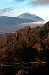 Rocky peaks, Mercedes mountains. Tenerife, Canary Islands, Spain