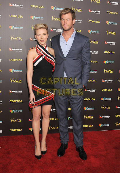LOS ANGELES, CA - JANUARY 31: Actors Scarlett Johansson (L) and Chris Hemsworth attend the 2015 G'Day USA Gala featuring the AACTA International Awards presented by Qantas at Hollywood Palladium on January 31, 2015 in Los Angeles, California.<br /> CAP/ROT/TM<br /> &copy;TM/ROT/Capital Pictures