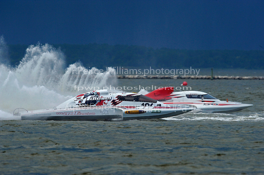 "Ken Brodie II, GP-50 ""Intensity""  and Pierre Mahaeu, GP-46 ""adf diesel""  (Grand Prix Hydroplane(s)"