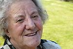 Portrait of Elderly woman smiling. MR