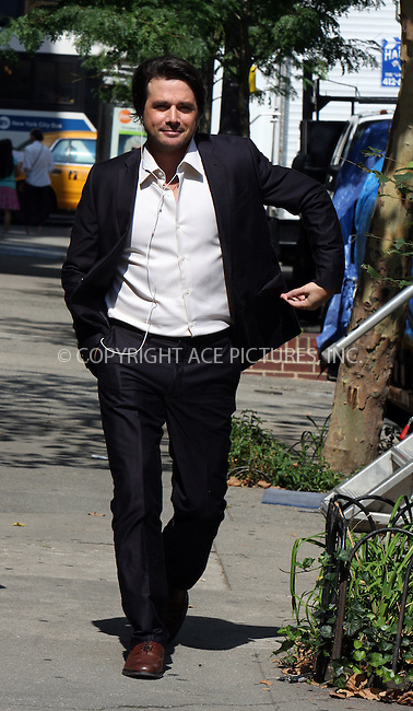 WWW.ACEPIXS.COM . . . . .  ....August 25 2009, New York City....Actor Matthew Settle on the set of the midtown Manhattan set of the TV show 'Gossip Girl' on August 25 2009 in New York City....Please byline: AJ Sokalner - ACEPIXS.COM..... *** ***..Ace Pictures, Inc:  ..tel: (212) 243 8787..e-mail: info@acepixs.com..web: http://www.acepixs.com