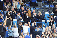 Leicester City Chairman Aiyawatt 'Top' Srivaddhanaprabha  is welcomed by the fans before Leicester City vs Wolverhampton Wanderers, Premier League Football at the King Power Stadium on 11th August 2019
