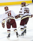 Barry Almeida (BC - 9), Matt Lombardi (BC - 24) - The Boston College Eagles defeated the Yale University Bulldogs 9-7 in the Northeast Regional final on Sunday, March 28, 2010, at the DCU Center in Worcester, Massachusetts.