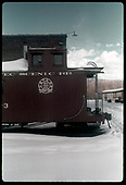 Caboose #0503 by Chama engine house.<br /> C&amp;TS  Chama, NM