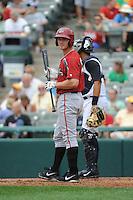 Altoona Curve infielder Jerek Cunningham (25) during game against the Trenton Thunder at ARM & HAMMER Park on August 6, 2014 in Trenton, NJ.  Trenton defeated Altoona 7-3.  (Tomasso DeRosa/Four Seam Images)