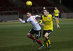 Clyde versus Edinburgh City, SPFL League 2 game at Broadwood Stadium, Cumbernauld. The match ended 0-0, watched by a crowd of 461. Photo shows City defender Gordon Donaldson.