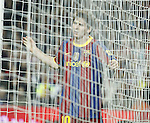 16.10.2010 Spain, Barcelona, La Liga Fc Barcelona beat Valencia 2 -1,after rallied from a goal in the second time in Camp nou. Messi inside Valencia goal