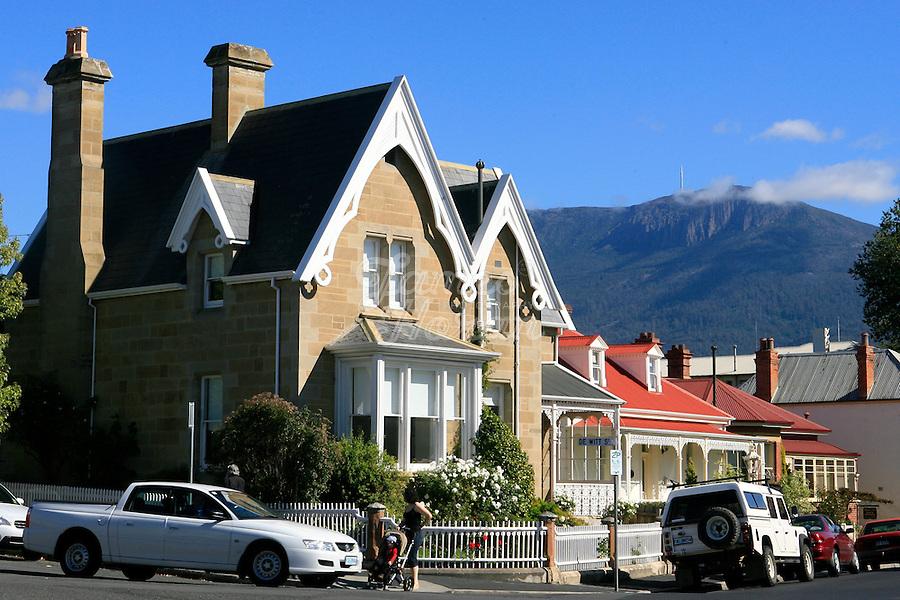 Hampden Road, Battery Point, Hobart, Tasmania, Australia.