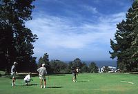 Golfers at the Little River Inn Golf Course, Little River, California