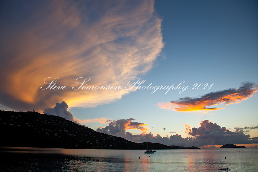 Sunset at Magen's Bay.St. Thomas.US Virgin Islands
