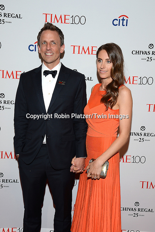 Seth Meyers and wife Alexi Ashe attend the TIME 100 Issue celebrating the 100 Most Influential People in the World on April 21, 2015 <br /> at Frederick P Rose Hall at Lincoln Center in New York City, New York, USA.<br /> <br /> photo by Robin Platzer/Twin Images<br />  <br /> phone number 212-935-0770