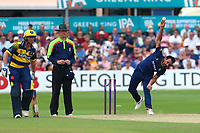 Ravi Bopara in bowling action for Essex during Essex Eagles vs Glamorgan, NatWest T20 Blast Cricket at The Cloudfm County Ground on 16th July 2017