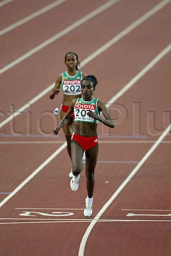 13 August 2005: No 204. Ethiopian athlete Tirunesh Dibaba (ETH) wins the Women's 5000m Final at the IAAF World Athletics Championships, held in the Olympic Stadium, Helsinki, Finland Photo: Glyn Kirk/actionplus...050813 running distance runner woman women athlete female