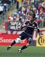 New England Revolution midfielder Lee Nguyen (24) traps the ball. In a Major League Soccer (MLS) match, the New England Revolution defeated Portland Timbers, 1-0, at Gillette Stadium on March 24, 2012