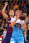 League ACB-ENDESA 2018/2019. Game: 14.<br /> FC Barcelona Lassa vs Monbus Obradoiro: 79-73.<br /> Kyle Kuric vs Ben Simons.