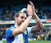 Blackburn Rovers' Charlie Mulgrew applauds the crowd at the of todays match<br /> <br /> <br /> Photographer Rachel Holborn/CameraSport<br /> <br /> The EFL Sky Bet League One - Blackburn Rovers v Southend United - Saturday 7th April 2018 - Ewood Park - Blackburn<br /> <br /> World Copyright &copy; 2018 CameraSport. All rights reserved. 43 Linden Ave. Countesthorpe. Leicester. England. LE8 5PG - Tel: +44 (0) 116 277 4147 - admin@camerasport.com - www.camerasport.com