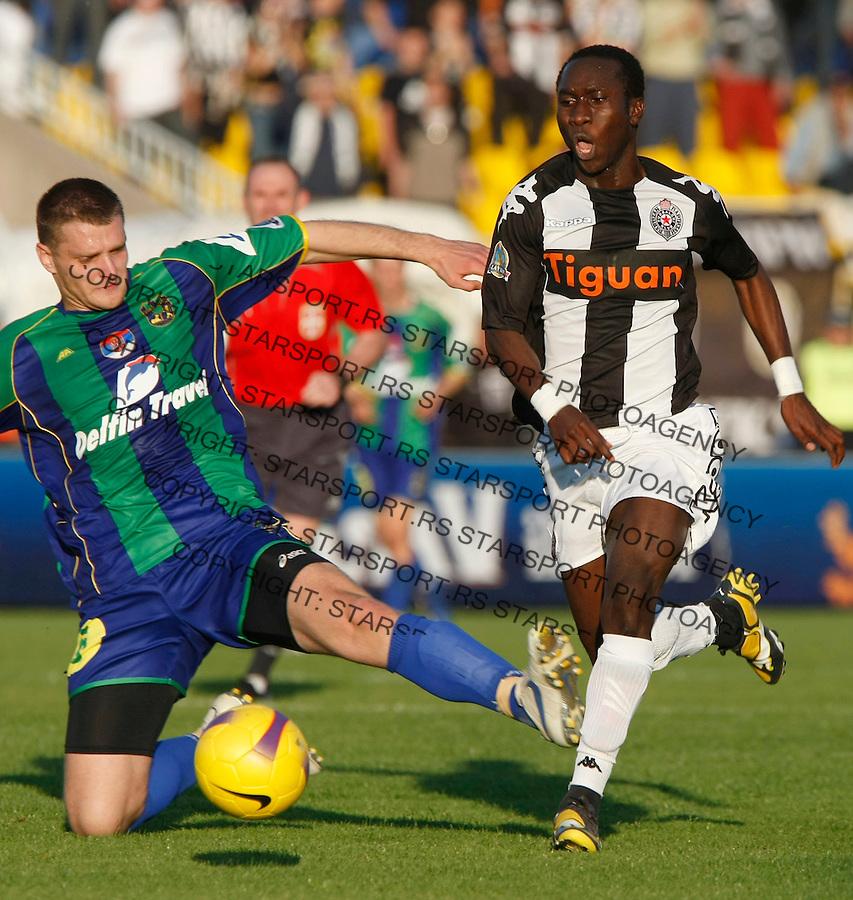 Fudbal, finale Kup-a Srbije, sezona 2007/08.Partizan Vs. Zemun.Lamine Diarra, right.Beograd, 08.05.2008..foto: Srdjan Stevanovic