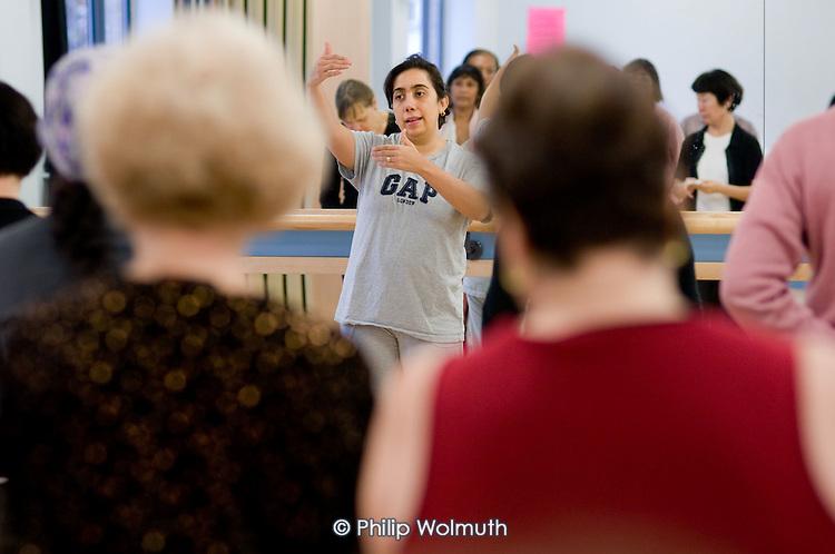 Claudia teaches a salsa class at the Stowe Centre, Harrow Road.