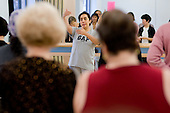 Claudia teaches a salsa class at the Stowe Centre, Harrow Road.