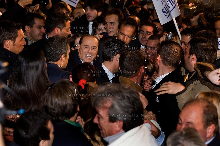Roma, 19 Novembre, 2007. Conferenza stampa di Silvio Berlusconi per la presentazione del nuovo partito