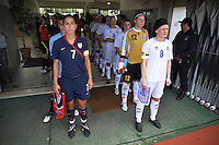 US National Team captain Shannon Boxx waits in the tunnel to enter the stadium in Vila Real Sto. Antonio during the 2010 Algarve Cup in Portugal.