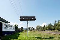 Coffin on a pole, roadside shooting en route to Erongaricuaro, Michoacan, Mexico