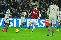 Declan Rice of West Ham United during West Ham United vs Liverpool, Premier League Football at The London Stadium on 4th February 2019
