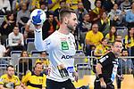 Rhein Neckar Loewe Andreas Palicka (Nr.12) mit dem Ball in der Hand beim Spiel in der Handball Bundesliga, Rhein Neckar Loewen - VfL Gummersbach.<br /> <br /> Foto &copy; PIX-Sportfotos *** Foto ist honorarpflichtig! *** Auf Anfrage in hoeherer Qualitaet/Aufloesung. Belegexemplar erbeten. Veroeffentlichung ausschliesslich fuer journalistisch-publizistische Zwecke. For editorial use only.