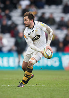 Wasps' Danny Cipriani in action during todays match<br /> <br /> Photographer Bob Bradford/CameraSport<br /> <br /> Aviva Premiership Round 14 - Harlequins v Wasps - Sunday 11th February 2018 - Twickenham Stoop - London<br /> <br /> World Copyright &copy; 2018 CameraSport. All rights reserved. 43 Linden Ave. Countesthorpe. Leicester. England. LE8 5PG - Tel: +44 (0) 116 277 4147 - admin@camerasport.com - www.camerasport.com