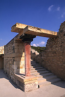 Crete Knossos Palace in Heraklion Greece important temple and ruins