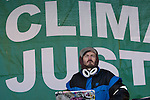 Dj at the Global Day of action rally.(Images free for Editorial Web usage for Fresh Air Participants during COP 15. Credit: Robert vanWaarden)
