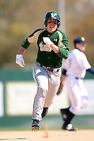 February 20, 2009:  Outfielder Stephen Hunt (9) of the University of South Florida during the Big East-Big Ten Challenge at Jack Russell Stadium in Clearwater, FL.  Photo by:  Mike Janes/Four Seam Images
