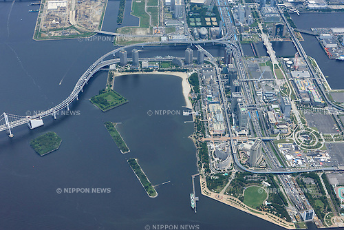 Odaiba Marine Park: Tokyo, Japan: Aerial view of proposed venue for the 2020 Summer Olympic Games. (Photo by AFLO)