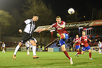 Padraig Amond of Grimsby Town scores their first goal during the Vanarama National League match between Aldershot Town and Grimsby Town at the EBB Stadium, Aldershot, England on 5 April 2016. Photo by Paul Paxford / PRiME Media Images.