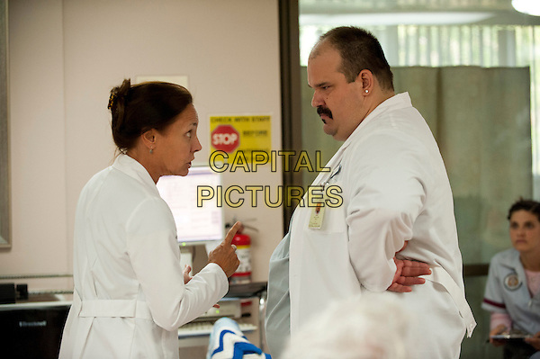 Laurie Metcalf, Mel Rodriguez<br /> in Getting On (2013) <br /> (Season 1)<br /> *Filmstill - Editorial Use Only*<br /> CAP/FB<br /> Image supplied by Capital Pictures
